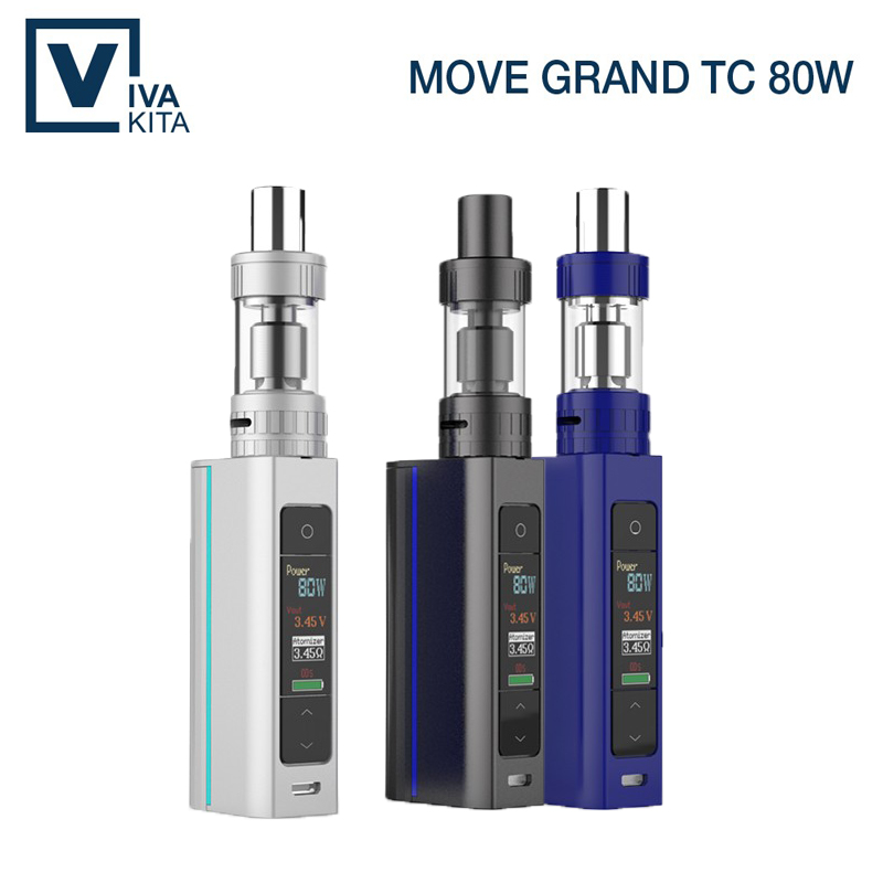 ФОТО Best present newest design e cigarette with color screen display 80W portable easy use vaporizer mod