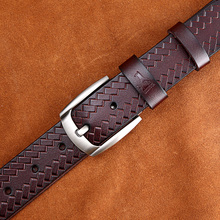 Stylish Genuine Leather Pin Buckle Belt For Men. Available Colors – Black, Coffee, Brown