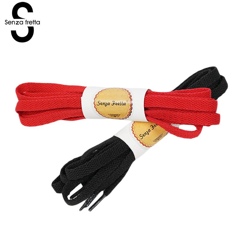 Senza Fretta 130cm Shoelaces Flat Polyester Shoe Laces Strings for Canvas Sneakers Women Men Shoe-Laces Black White Red Shoelace motorcycle auxiliary fog lights protect cover safety driving lamp for bmw k1600 r1200gs adv f800gs auxiliary lights