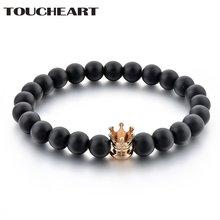 Toucheart ручной работы черный браслет на запястье и браслеты