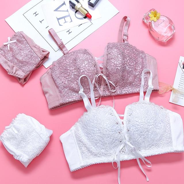 CINOON women intimates Japanese super Sexy Underwear push up bra red and pink Princess straps belt lace women bra set Lingerie 1