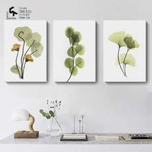 ФОТО create&recreate nordic poster leaf posters and prints wall art canvas oil painting for home decoration pictures cr1810110025