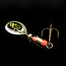 2.5G 60MM HOT NEW 2017 Spinner Spoon Fishing Lure Spinner bait Metal Hard FISHING Lure bass panfish trout walleye tilapia