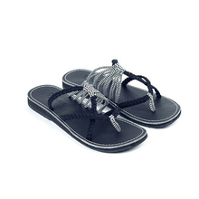 купить Flip Flops Sandals For Women New Summer Big Code Rope Shoes Women Female Fashion Slippers Beach Pinch Toe Flat Bottom Slippers по цене 1600.41 рублей