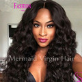 2016 New Glueless Full Lace Wig Brazilian Deep Wave Curl Full Lace Human Hair Wigs For Black Women Best Lace Front Wig Baby Hair