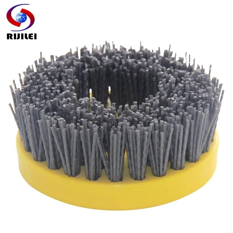 10PCS/Set 110mm Round Abrasive Antique Brush Antique Abrasive Nylon Brush Diamond Abrasive Brushes For Stone Polishing YG10