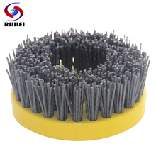 10PCS/Set 110mm Round Abrasive Antique Brush Nylon Diamond Brushes for stone polishing YG10