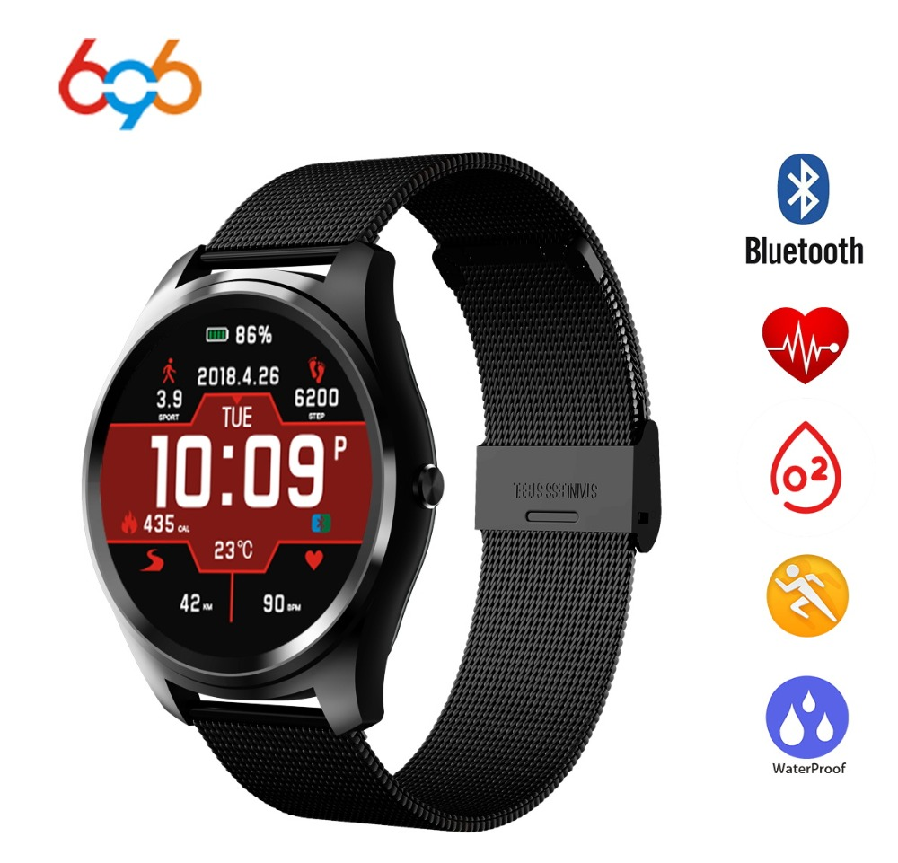 696 X8 Heart Rate Monitor Bluetooth info sync Facebook,Whatsapp watches blood pressure Smart Watch For IOS Android watch stroysnab info