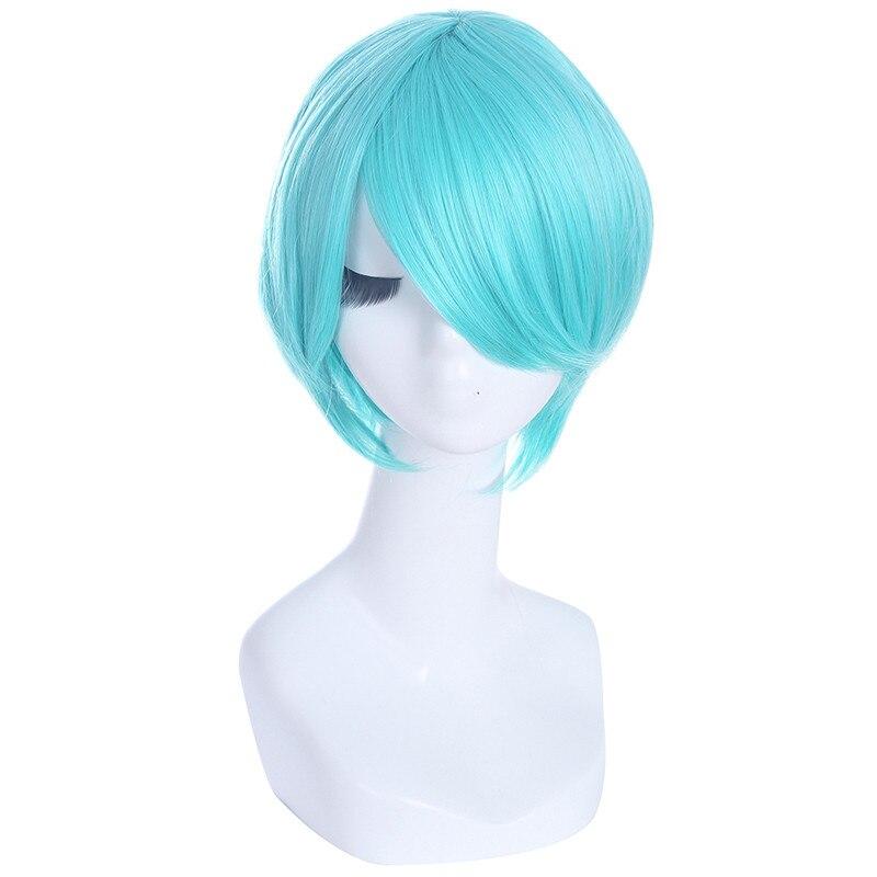 Парик л-электронной Vocaloid 120 см/47.24 cm Косплэй Искусственные парики длинные синие термостойкие Синтетические волосы Perucas Косплэй парик