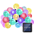 20ft 30 Cristal LED Bola Solar Powered lederTEK Marca Más Populares Global Luces de Hadas para Jardín Al Aire Libre Decoración de La Navidad