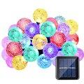20ft 30 ledertek marca mais populares globo bola de cristal levou movido a energia solar luzes de fadas para jardim ao ar livre decoração do natal
