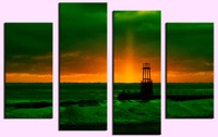 4PCS Beautiful InfraRed Sunrise Wall Painting Print On Canvas For Home Decor Ideas Paints On Wall