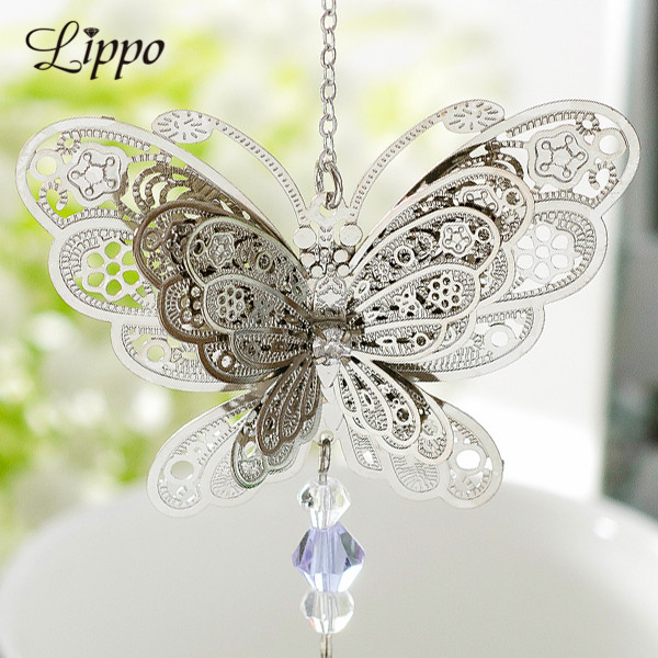 10pcs Filigree 3D Butterfly Charms Brass Pendants Connector Embellishments Slice Jewelry Findings Make Up DIY Accessories Parts