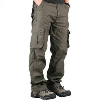 Men\'s Cargo Pants Casual Multi Pockets Military Tactical Pants Men Outwear Streetwear Army Straight Slacks Long Trousers Clothes