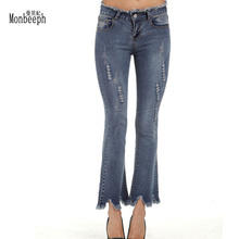 New Fashion Women Demin Jeans Autumn Plus Size S-5XL Water Wash Capris Casual Skinny Jeans Women Denim Pencil Pants