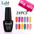 24 Pcs DHL Free Shipping Gel Polish LED UV Nail Gel Polish Uv Gel (20Color Gel+2Top Coat+2 Base Coat) Good Quality Big Bottle