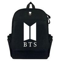 BTS Bullet Boys Korean Star Canvas Backpack Laptop Bag School Bag Shoulder Bag Travel Cosplay Bag With Earphone hole Durable