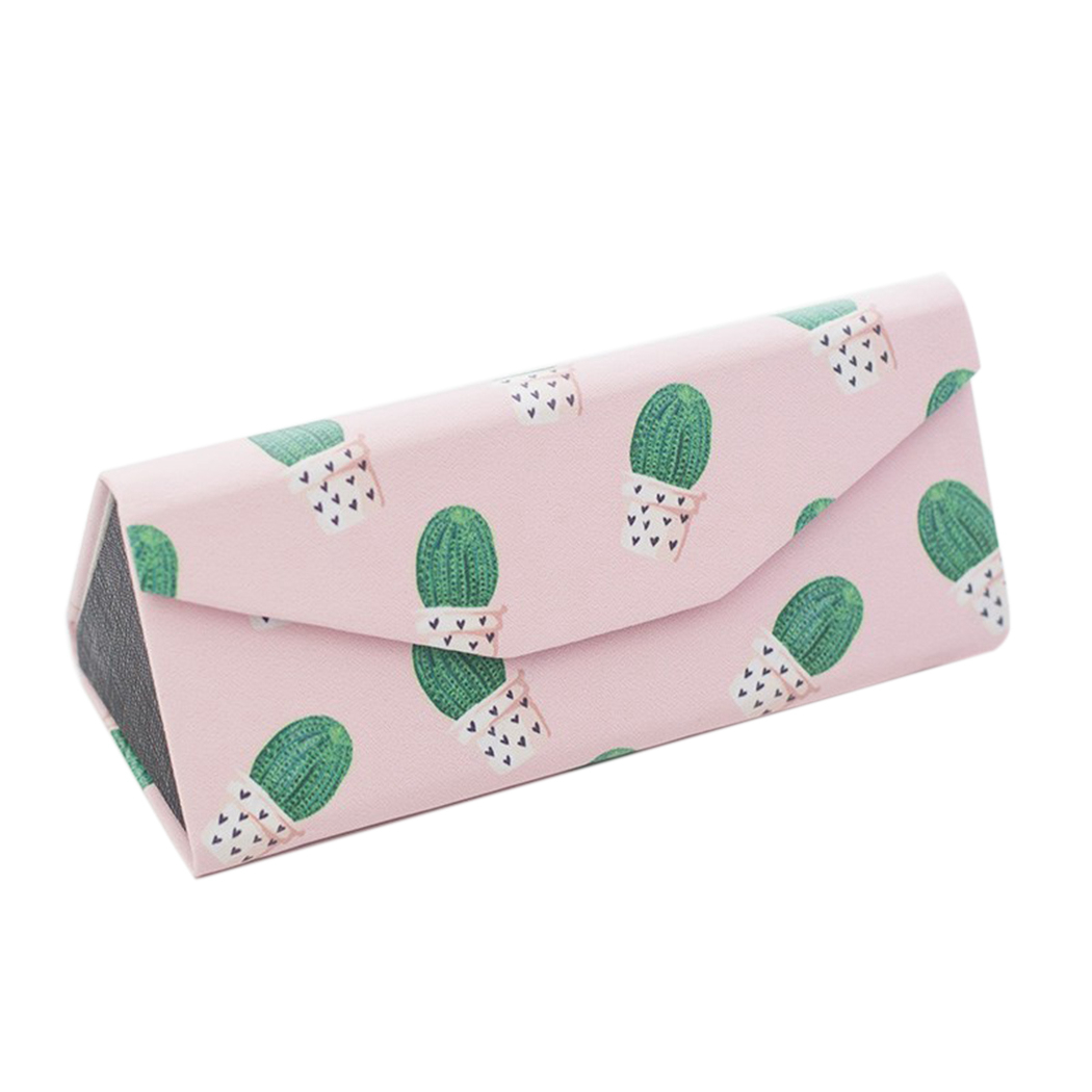 Student Myopia Folding Glasses Case Sunglasses Women And Men Glasses Box Fresh Portable Flamingo Leaves Banana Leaf Glasses Box
