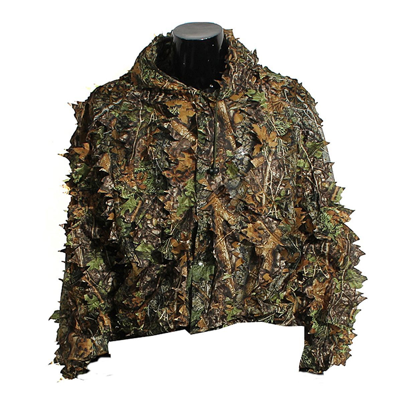 483dae0cc9169 Practical 3D Leaf Camo Camouflage Clothing Outdoor Jungle Hunting Woodland  Ghillie Suit Forest Military Sniper Training