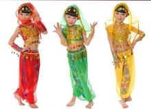 Children girls costume India dance clothing Xinjiang belly girl stage performance clothes