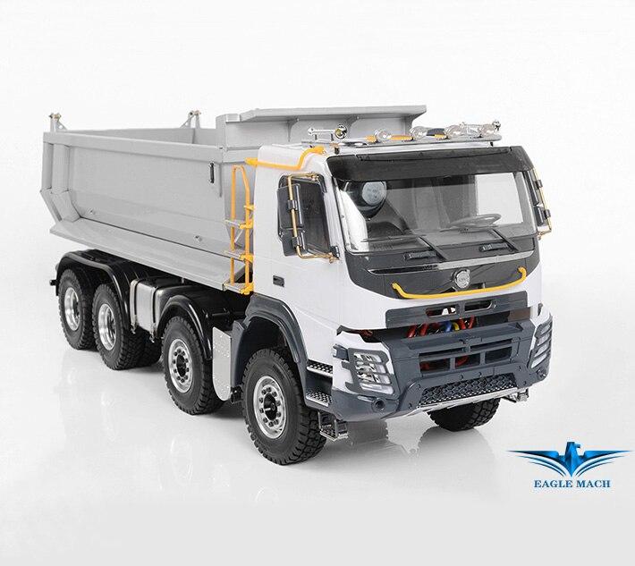 Camion à benne basculante hydraulique RC à l'échelle 1/14 Version 8x8 2.0