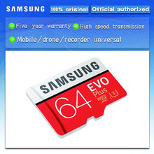 New product Original SAMSUNG EVO+ Memory Cards 64GB EVO plus U3 128GB 256GB Class10 Micro SD Card 32GB 16G microSD UHS-I TF Card(China)