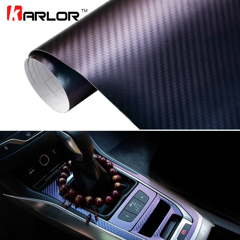 30cmx100cm Chameleon 3D Carbon Fiber Vinyl Film Auto Car Sticker Truck Motorcycle Phone Car Styling Decoration Wrapping Decal fashionable bat style 3d car decoration sticker silver