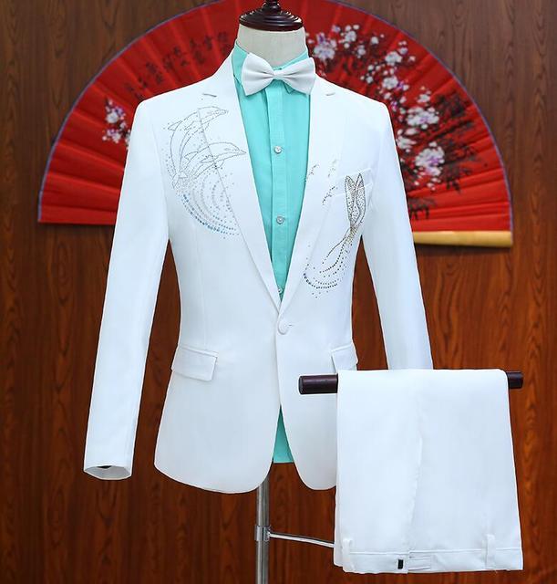 פזמון לקדוח להדביק דולפין בני ליזר חליפות חתונה לגברים נשף mariage זינגר masculino הדק חליפות עיצובים צפצף המעיל האחרונים