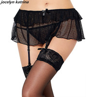 Jocelyn Katrina Brand Women S Sexy Lace Underwear Garter Set Garter Hollow Out Black Garter Belt