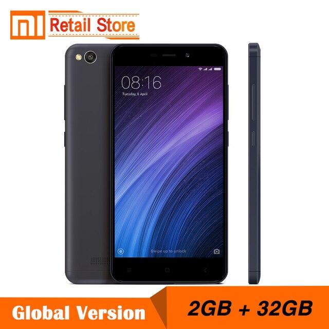 """Глобальная версия Xiaomi Redmi 4A 2 ГБ Оперативная память 32 ГБ Встроенная память телефона Snapdragon 425 4 ядра 5.0 """"1280x720 P 3120 мАч 13.0 МП группа B4 B20"""
