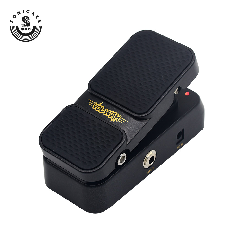 Sonicake 2 in 1 Active Volume Vintage Wah Footswitch Guitar Effects Pedal LED Light QEP 01
