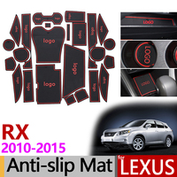 Anti Slip Gate Slot Mat Rubber Coaster for Lexus RX RX270 RX350 RX450h 2010 2012 2013 2014 2015 270 350 450h Accessories Sticker