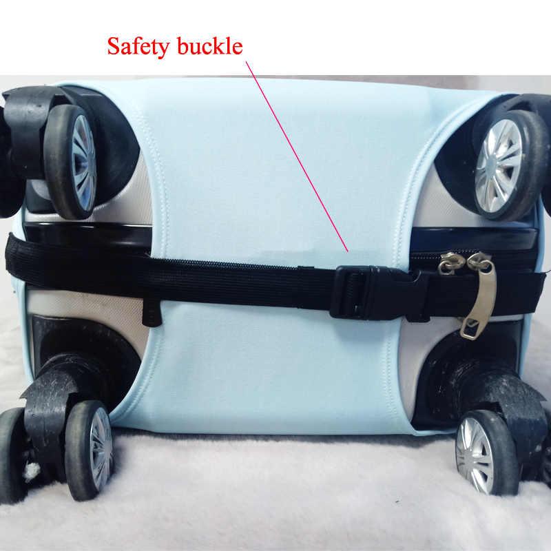 Funda protectora de equipaje elástica para maleta cubierta protectora fundas de carro fundas de accesorios de viaje 3D patrón T12343