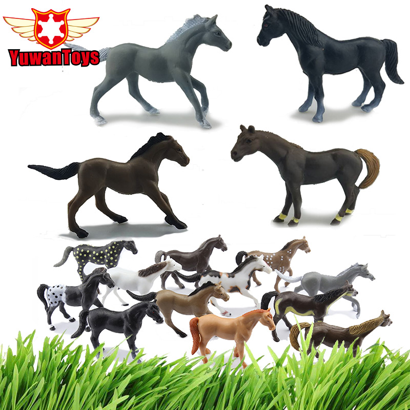 Farm Animal Horse Set 12PCS In Box Different Styles Horses Delicate Min Model Animal Toys Boys Favorite Gift Early Education 6pcs simulated farm animal horse sheep