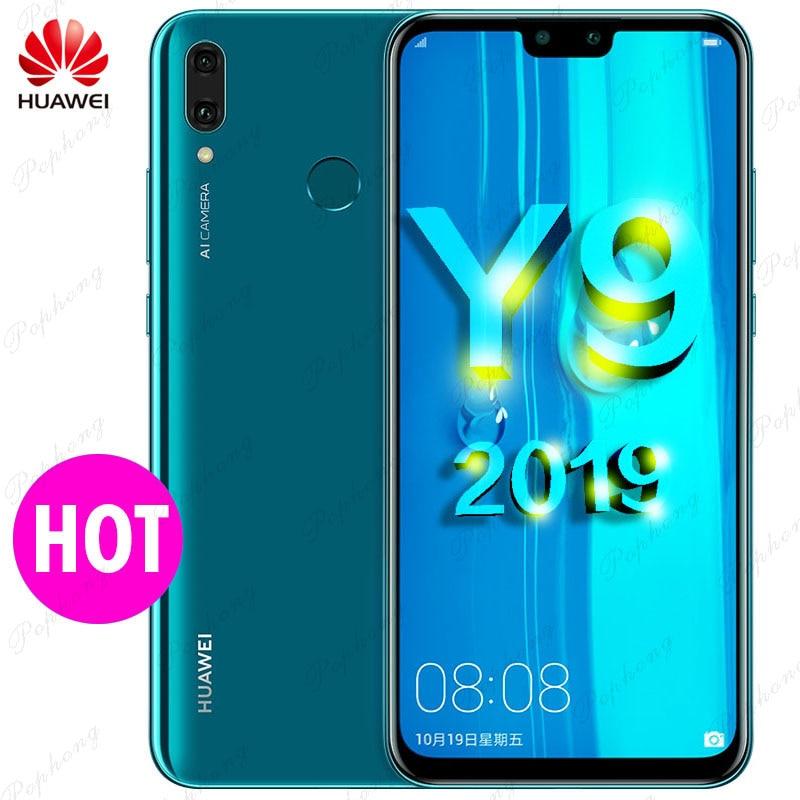 Huawei Y9 2019 смартфон 6,5 дюймов полный Экран 2340×1080 Hisilicon Kirin 710 Octa Core Android 8,1 4000 мАч 4 * Камера 3 карты слот