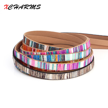 XCHARMS 10MM/leather cord rope/Rainbow 2/accessories parts/jewelry findings/hand made/jewelry making/bracelet material