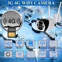 Outdoor 3G 4G SIM Card Camera Full HD 1080P Wireless Wifi IP Camera Waterproof CCTV IR Night Vision P2P SD Card Security Camera