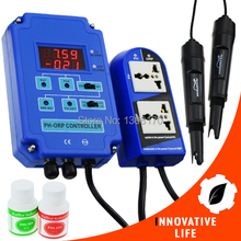 Digital 2 in 1 pH ORP Aquarium Controller BNC Dual Display Electrodes Redox mV CO2 O3 110V/220V