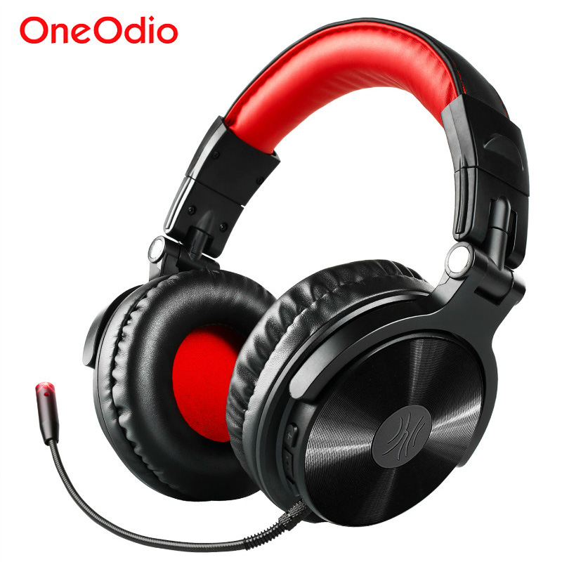 Oneodio Wireless Bluetooth Over Ear Headphone With Dual Mic HIFI Stereo Wireless Headset Bluetooth 4.1 For Xiaomi iPhone Gaming wireless bluetooth headphones wireless headset bluetooth 4 1 hifi super bass stereo gaming headphone with mic