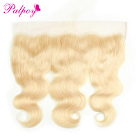 PALPOY 613# Blonde Color Body Wave Malaysian 100% Human Hair 13*4 Lace Frontal Closure Non Remy Hair Lace Frontal Free Shipping