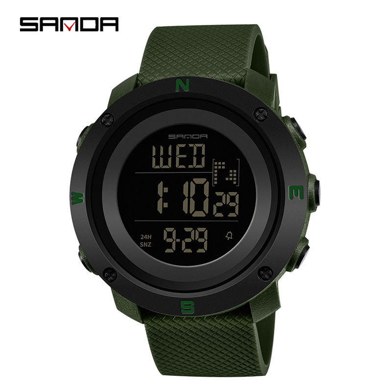 Digital Watches Men Fashion Sports Watches SANDA Top Brand Military Watch 50M Waterproof Swim Dress Sports Outdoor Wrist watch