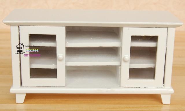 Witte Kast Woonkamer : Poppenhuis miniatuur poppen meubels wit tv kast woonkamer