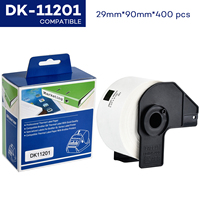 CIDY 5Rolls DK 1201 Compatible for Brother Labels DK 11201 DK 1201 DK 201 Die Cut Standard Address Labels for QL570 QL700