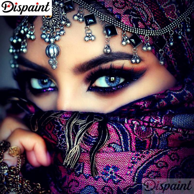 """Dipaint полная квадратная/круглая дрель 5D DIY Алмазная картина """"Африканская женщина"""" вышивка крестиком 3D домашний декор A10628"""