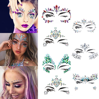 1 Sheet 3D Crystal Glitter Jewels Tattoo Sticker Women Face Body Gems Gypsy  Festival Adornment Party bbc7077bdfaa