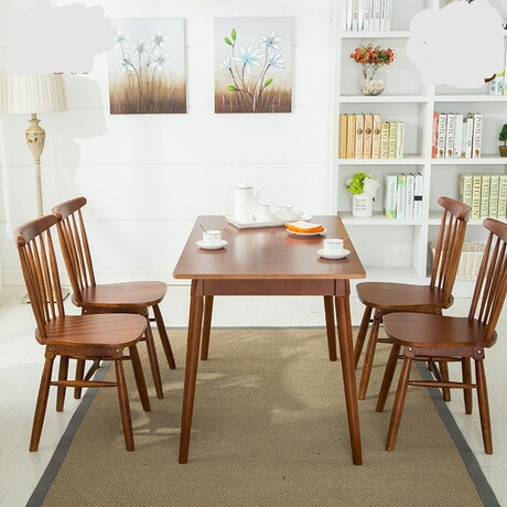 Cafe Furniture Sets Cafe Furniture solid wood 4 pieces of chairs+one table cafe sets minimalist modern 2019 good price high end