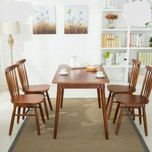 Cafe Furniture Sets Cafe Furniture solid wood 4 pieces of chairs+one table cafe sets minimalist modern 2017 good price high end(China)