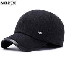 SILOQIN Earmuffs Hat Winter Men's Cap Warm Thick Baseball Caps Adjustable Head Size Male Bone Brands Snapback Cap Dad Hats NEW стоимость