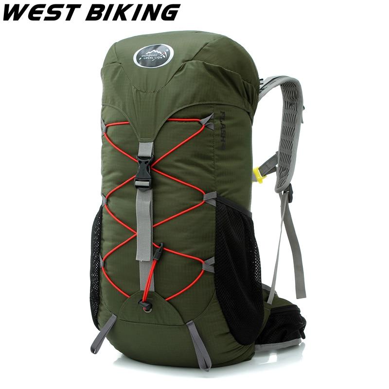WEST BIKING 35L Capacity Travel Bag Survival Camping Hiking Mountaineering Tactical Bag Bike Accessories Basket Bolsa Bicicleta
