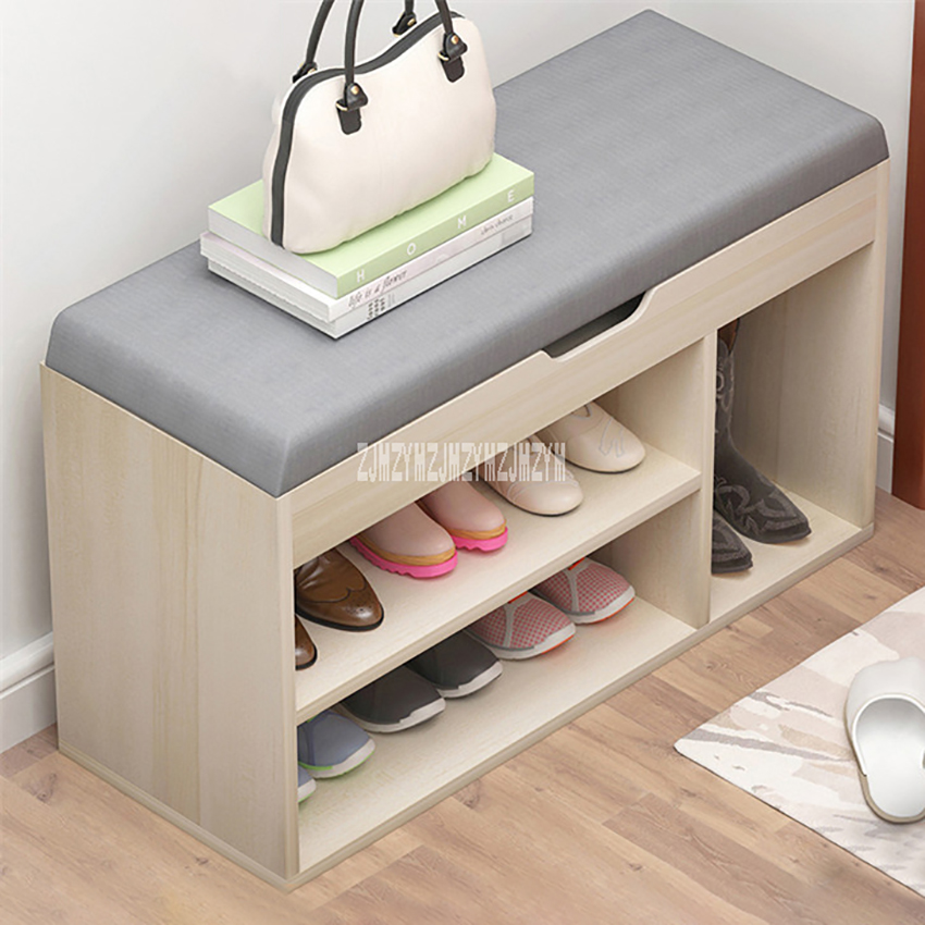Us 24 81 11 Off Zcxj Wooden Shoe Rack Living Room Storage Stool Simple Change Bench Modern Shoes Organizer With Drawer Cabinet In